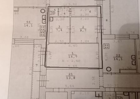 Продаётся 2-комнатная квартира, 39 м²