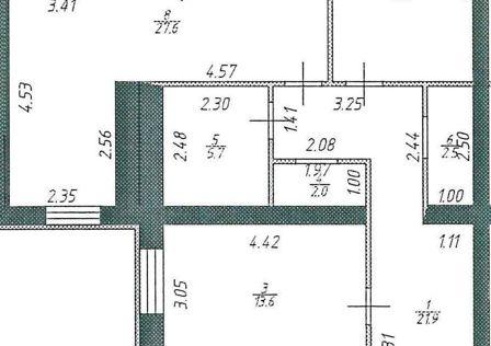 Продаётся 3-комнатная квартира, 106.7 м²