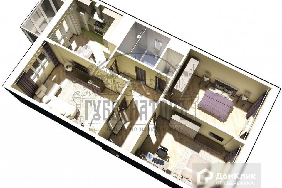 Продаётся 3-комнатная квартира, 91.57 м²