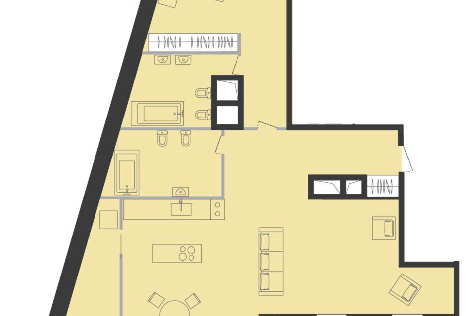Продаётся 3-комнатная квартира, 146.3 м²
