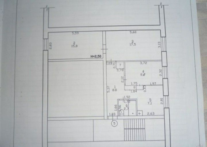 Продаётся 3-комнатная квартира, 61.9 м²